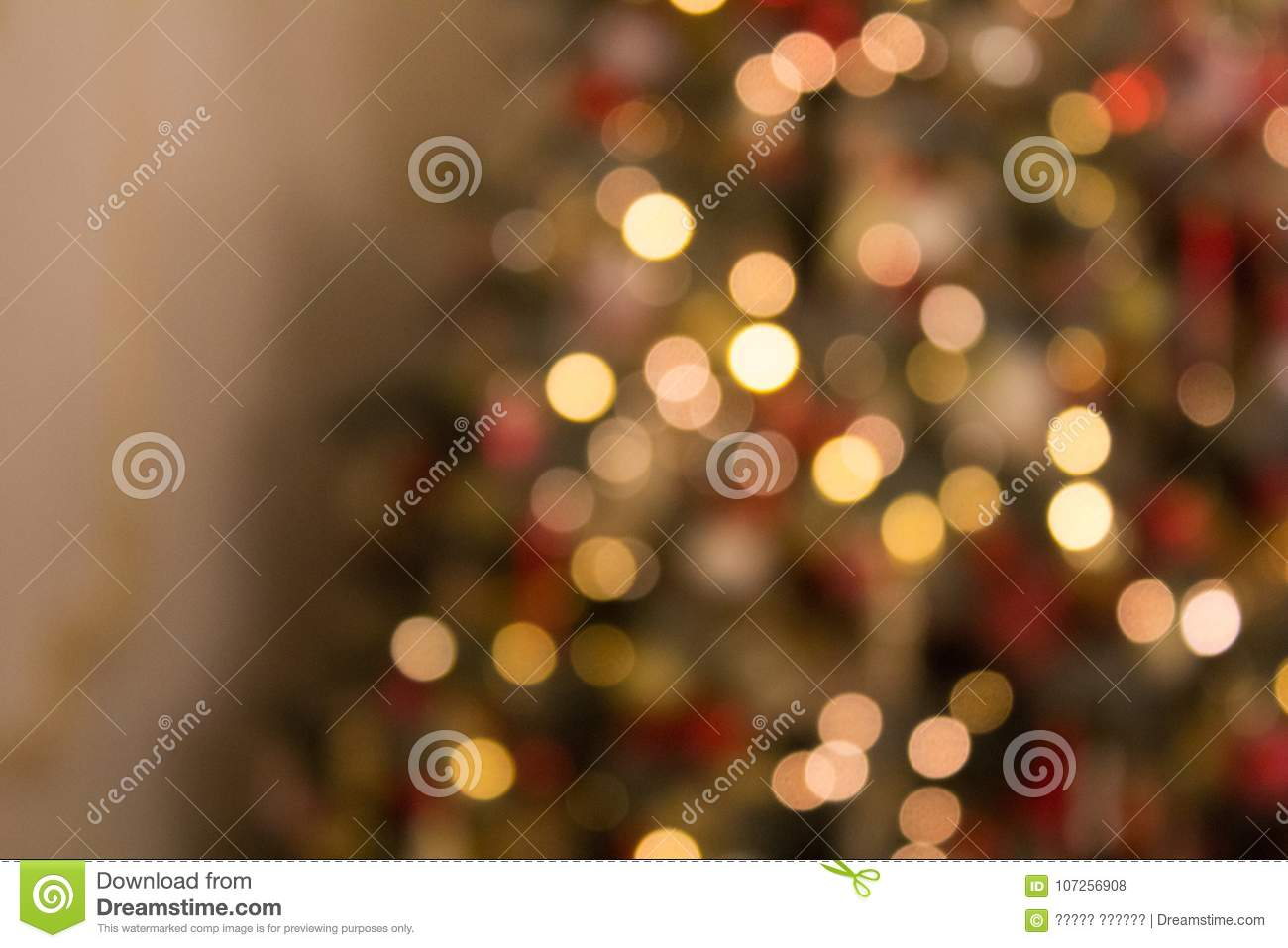 Blurred colored circles on a light holiday background
