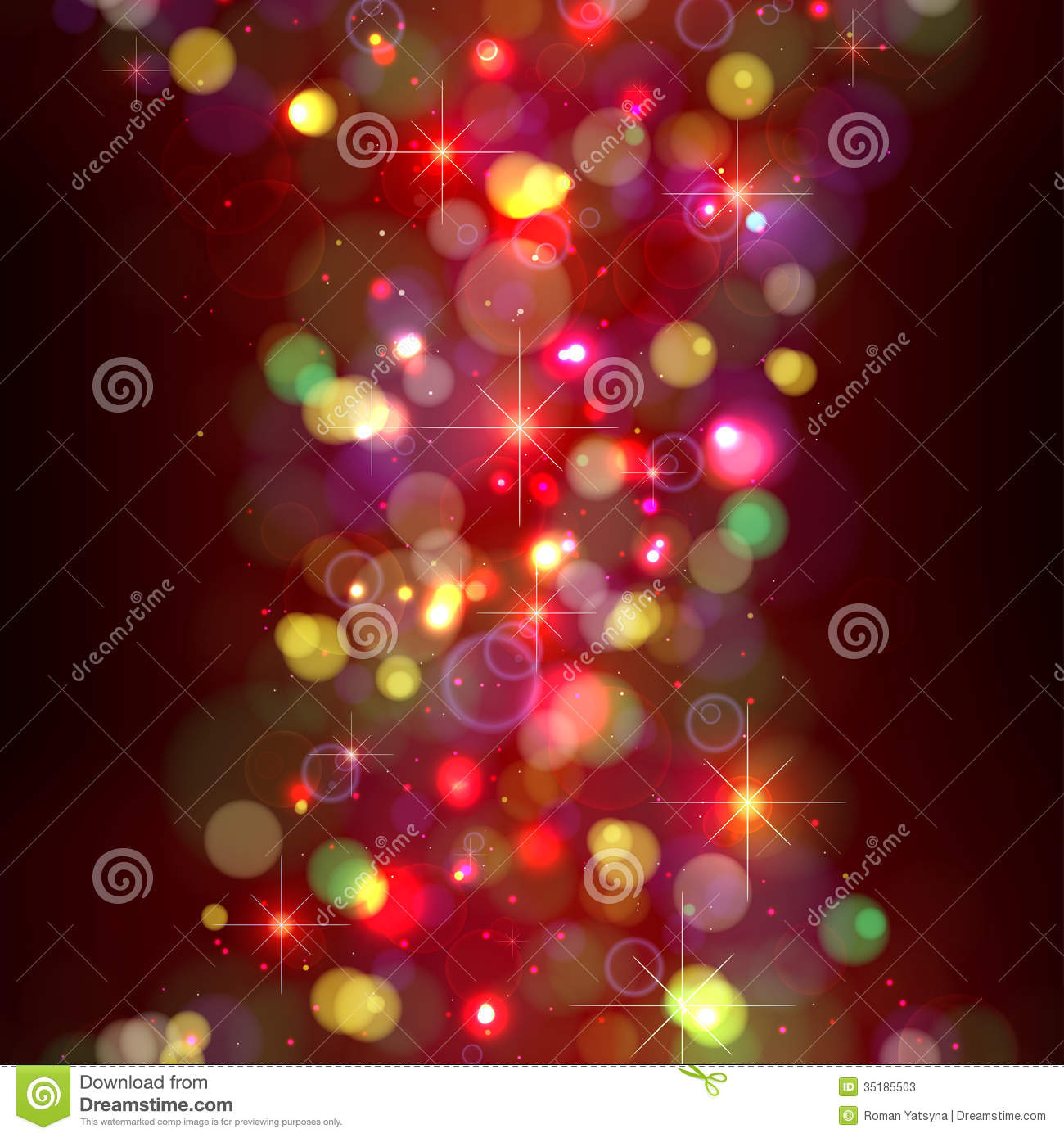 festive christmas background with lights