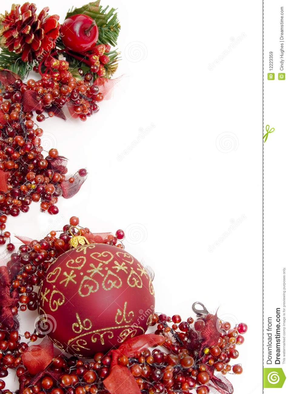 Festive Christmas Berries Stock Image Image Of Decoration
