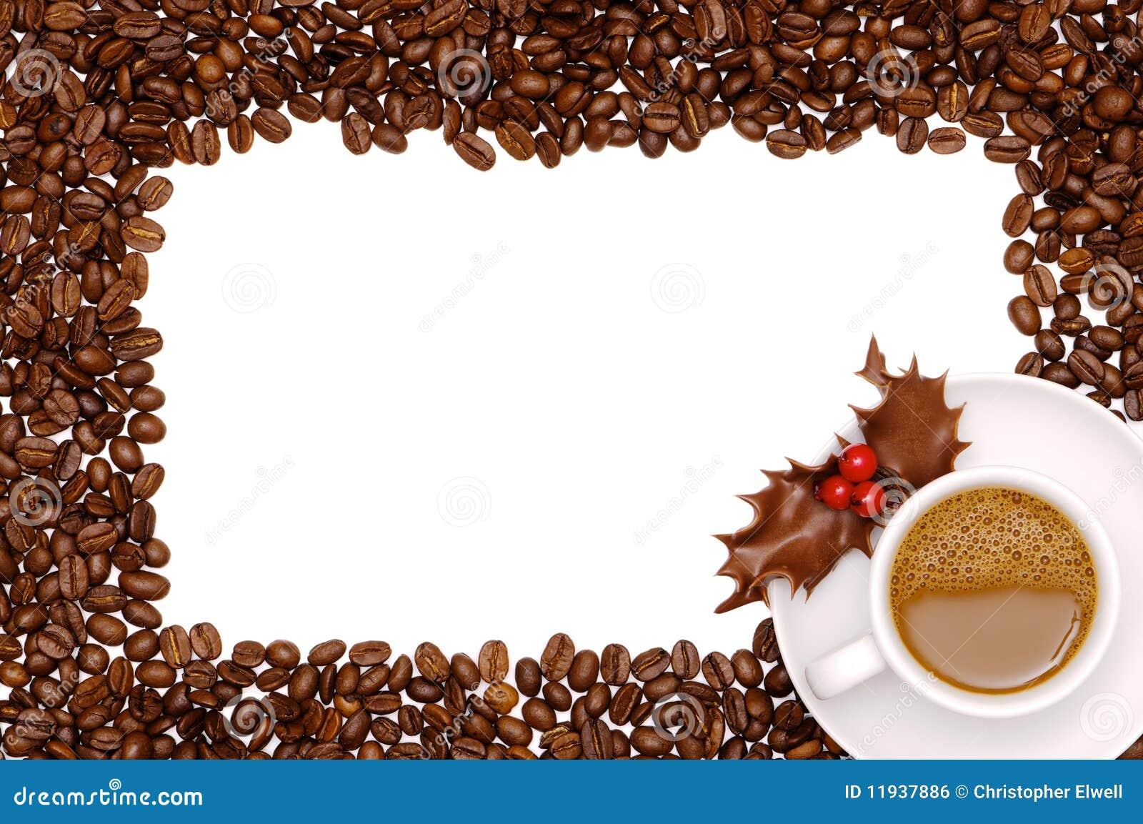 Festive Coffee Border Royalty Free Stock Image - Image ...