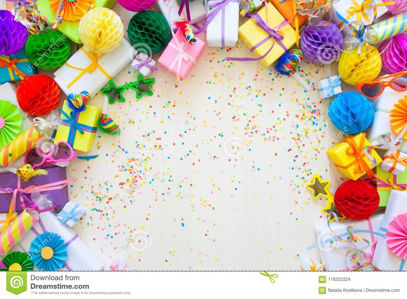 Festive Decor For A Birthday Party Or New Year Bright Decorations Of All Colors The Rainbow