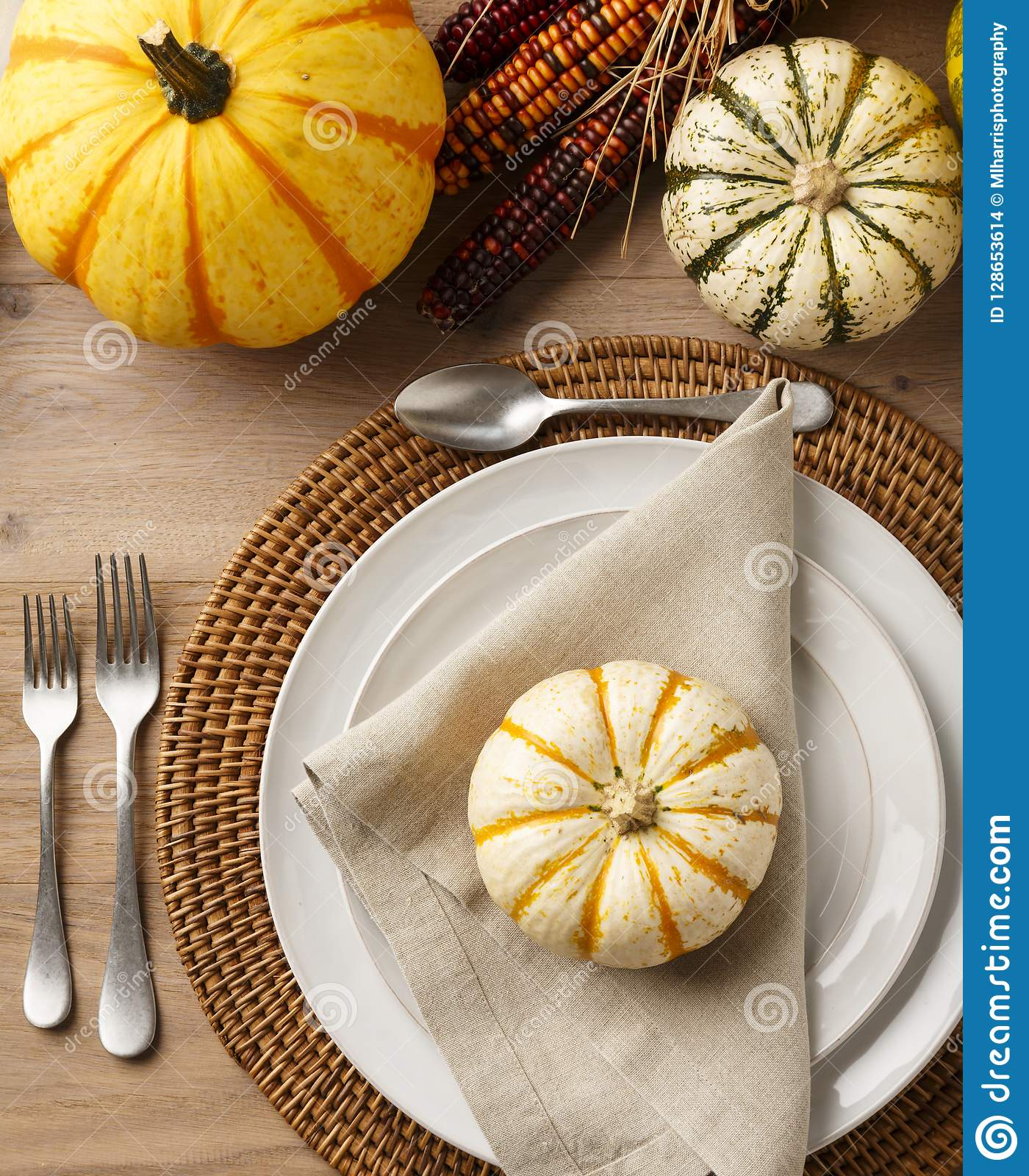 Festive Fall Thanksgiving Table Setting Place Setting Home