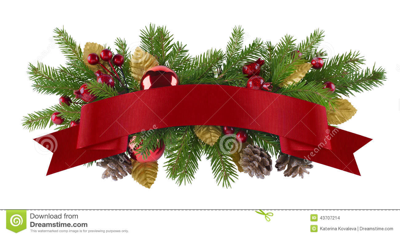 festive garland christmas element stock photo