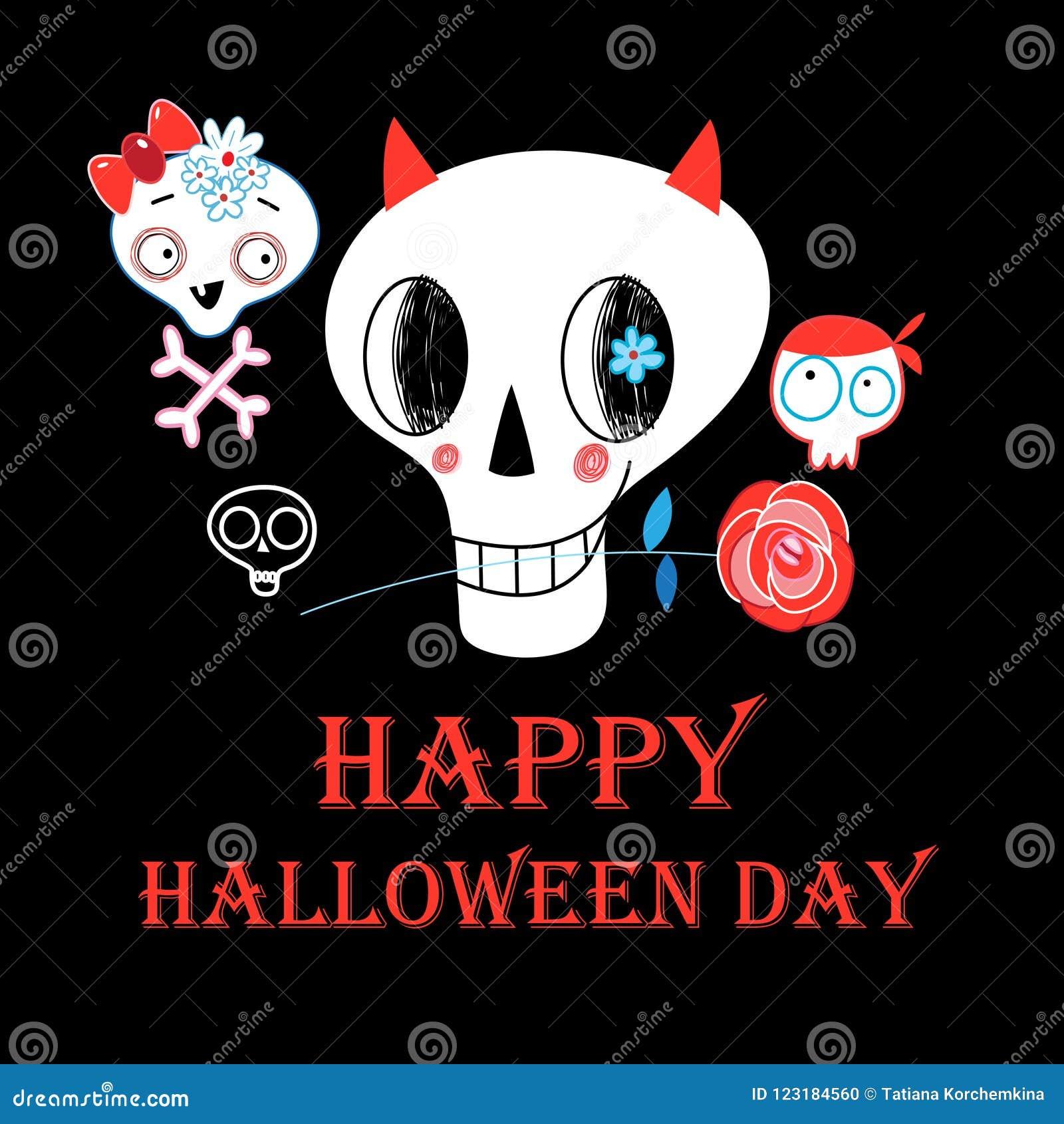 Festive Greeting Card For Halloween Stock Vector Illustration Of