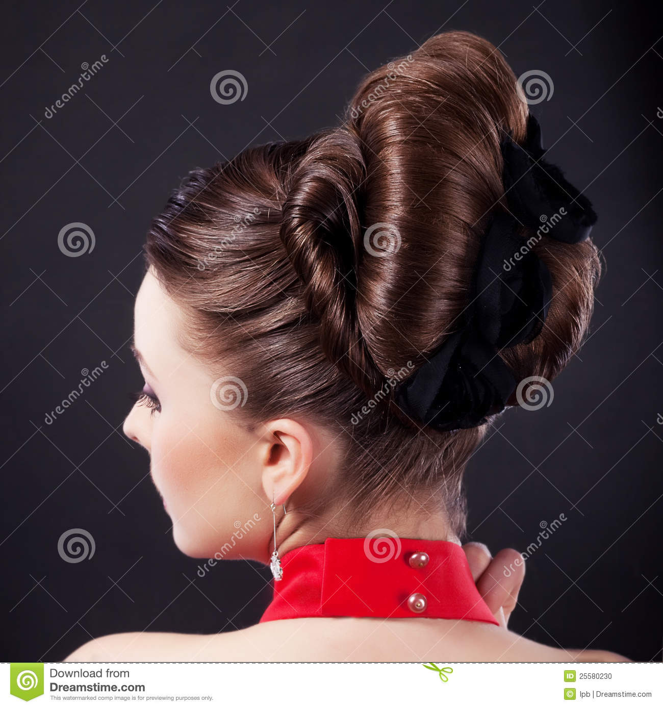 Festive Hairstyle And Beauty Coiffure Stock Photo Image Of