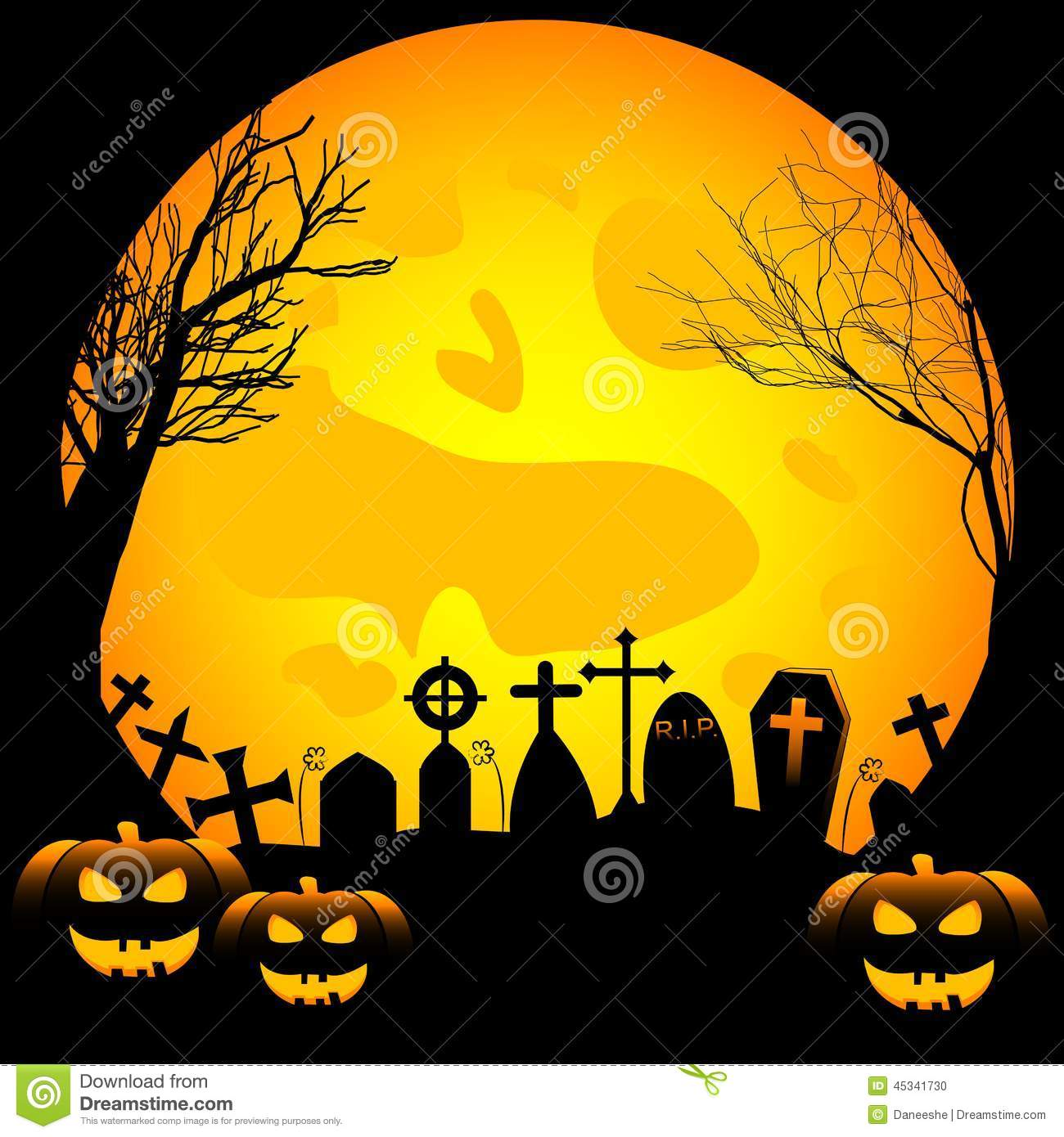 festive illustration on theme of halloween. wishes for happy