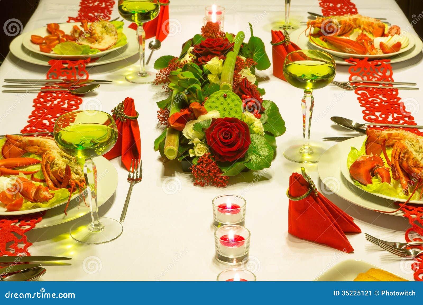 Festive Lobster Dinner Stock Image Image 35225121