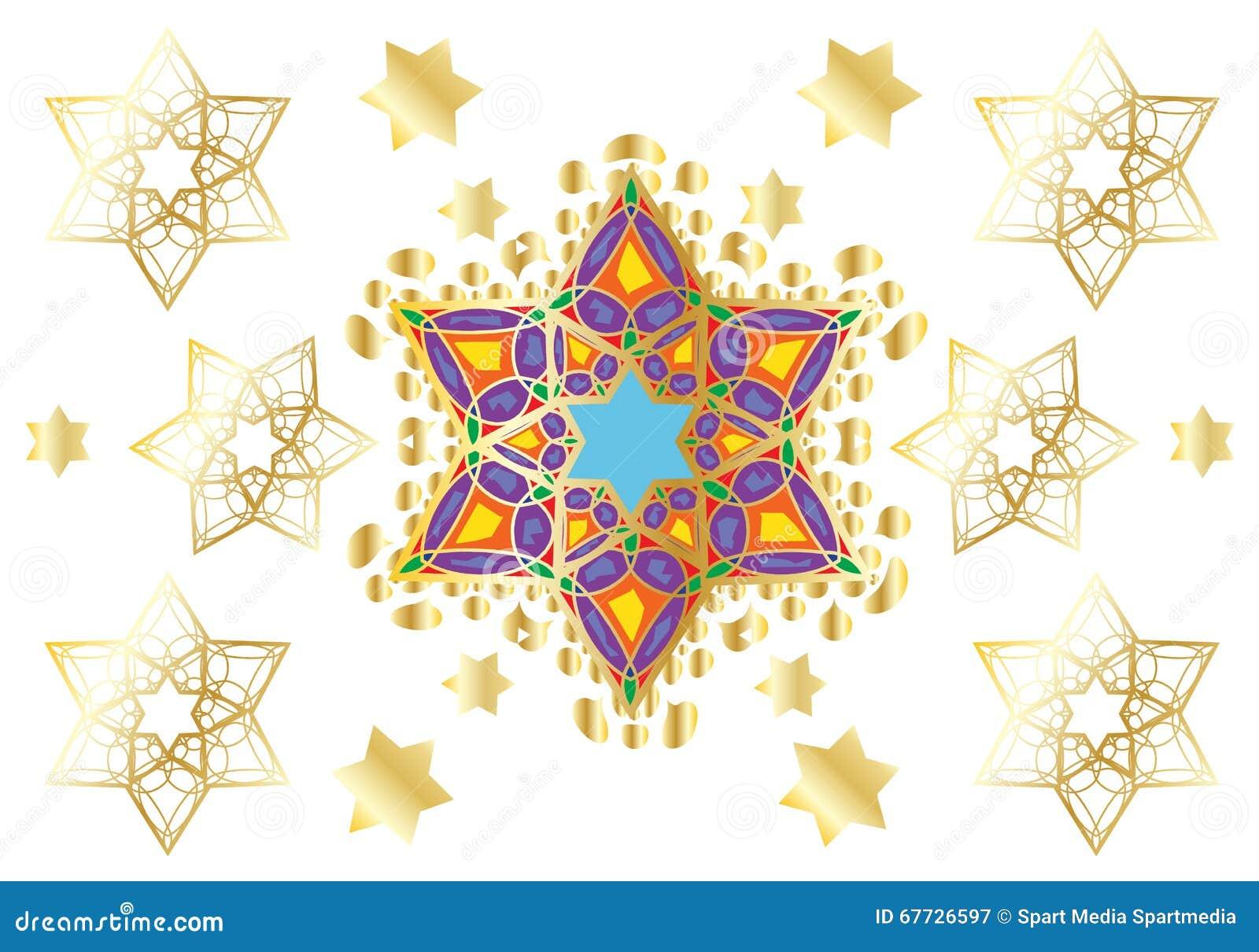 Festive oriental Gold Ornament Jewish Wedding day