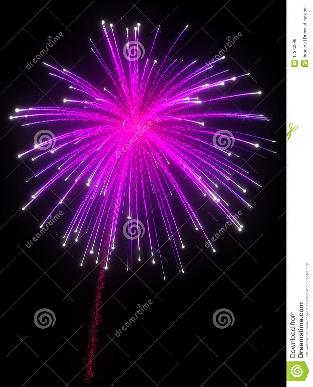 Festive Purple Fireworks At Night Stock Photo - Image: 17330390