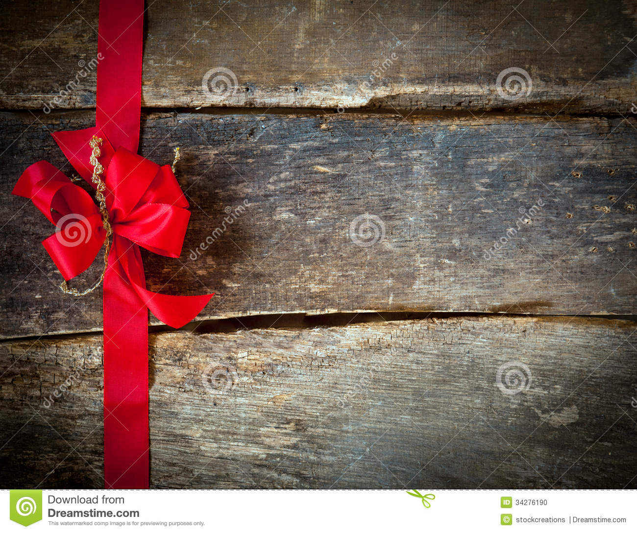 Festive Red Bow For A Christmas Card Stock Photo - Image of rustic ...
