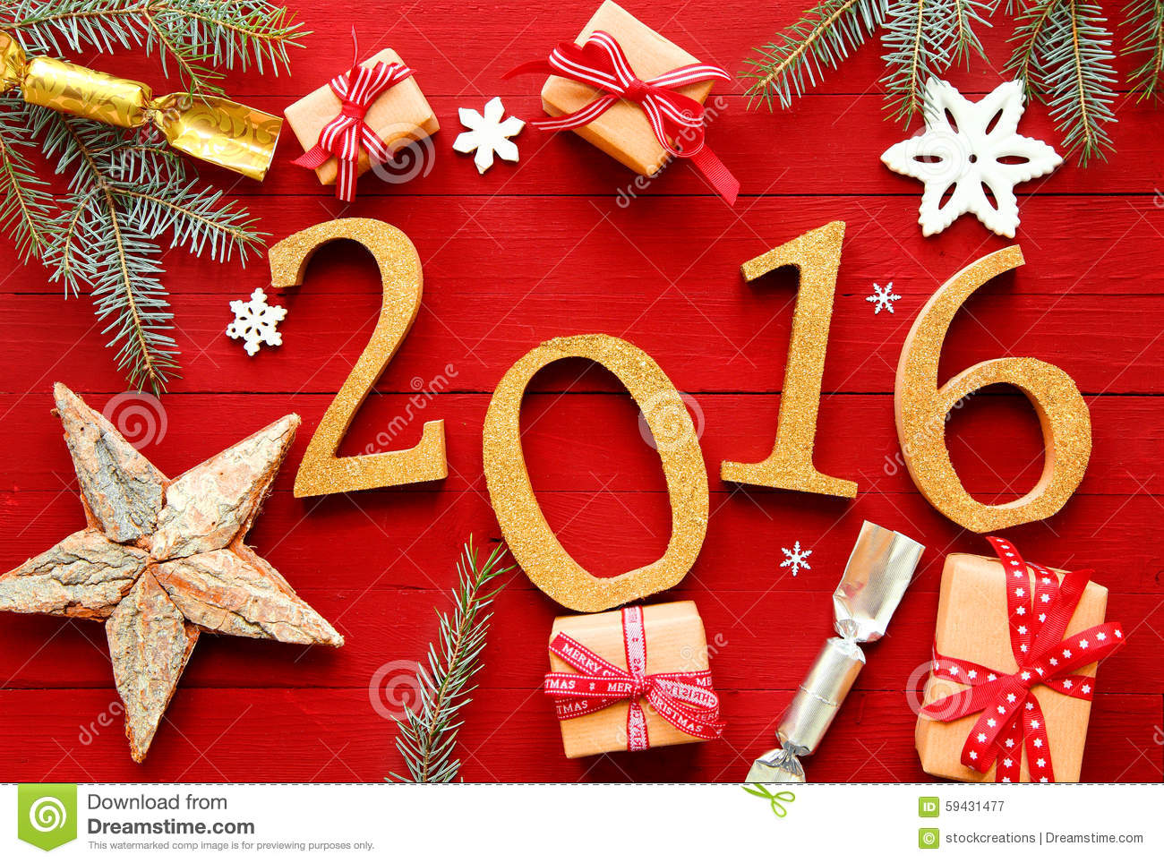 festive red 2016 new year background