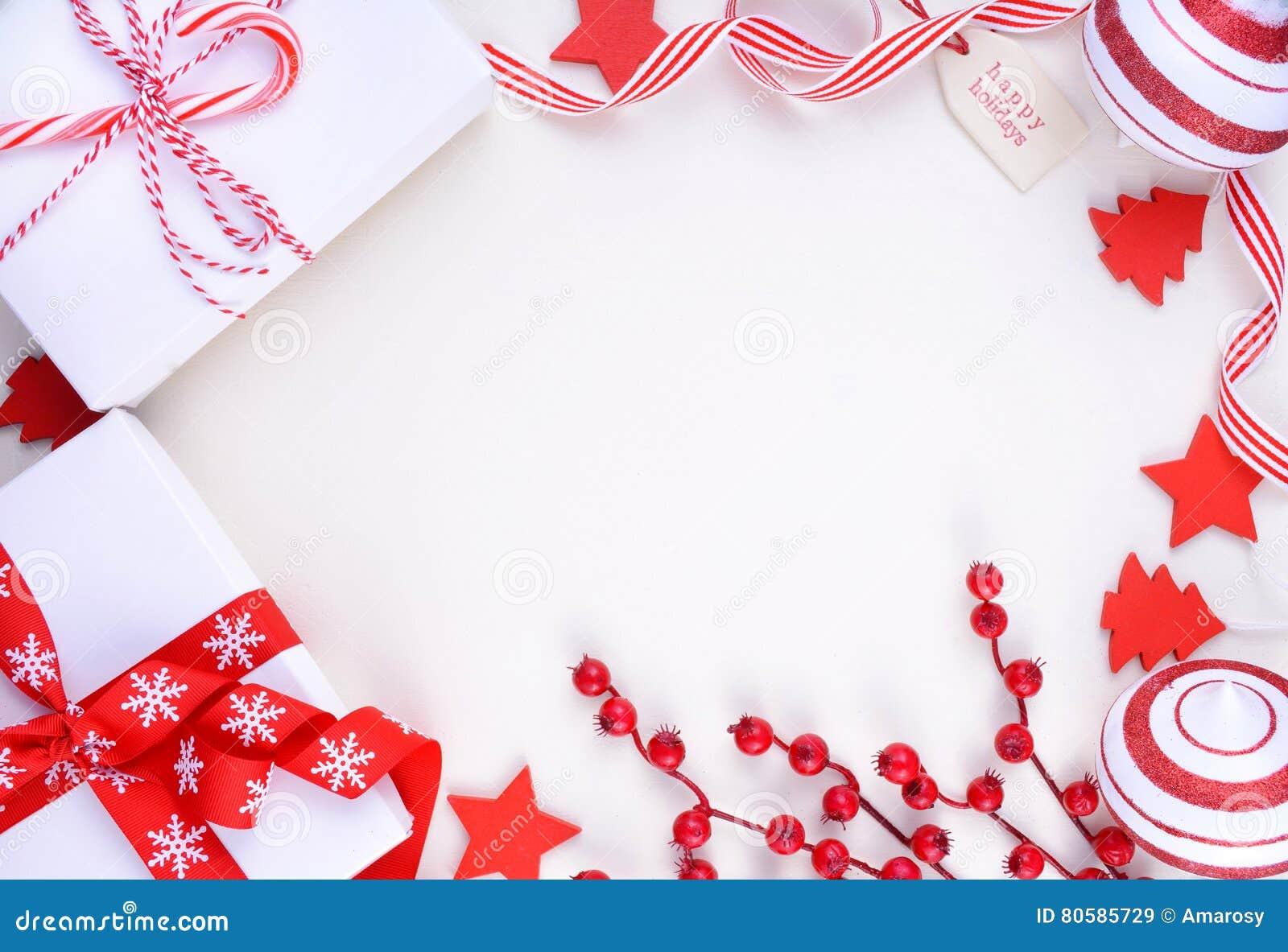 Festive Holiday Christmas Tree Borders Royalty Free