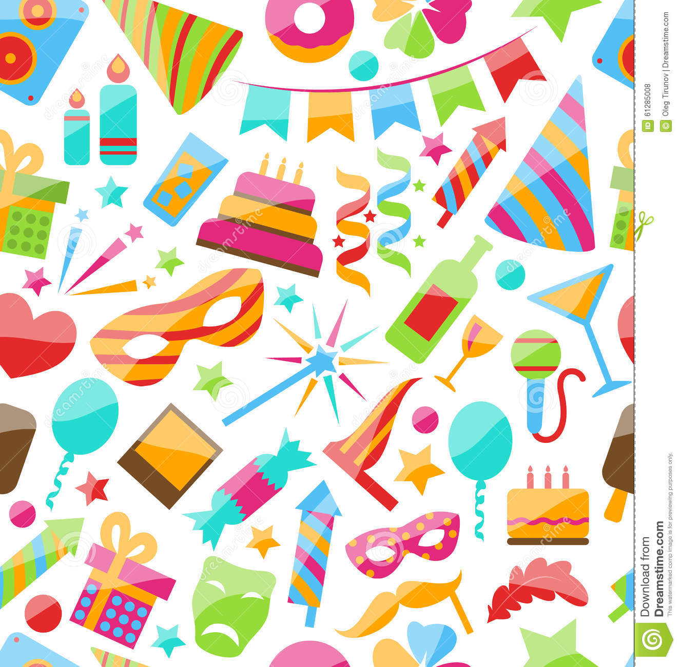 festive seamless wallpaper with carnival stock vector