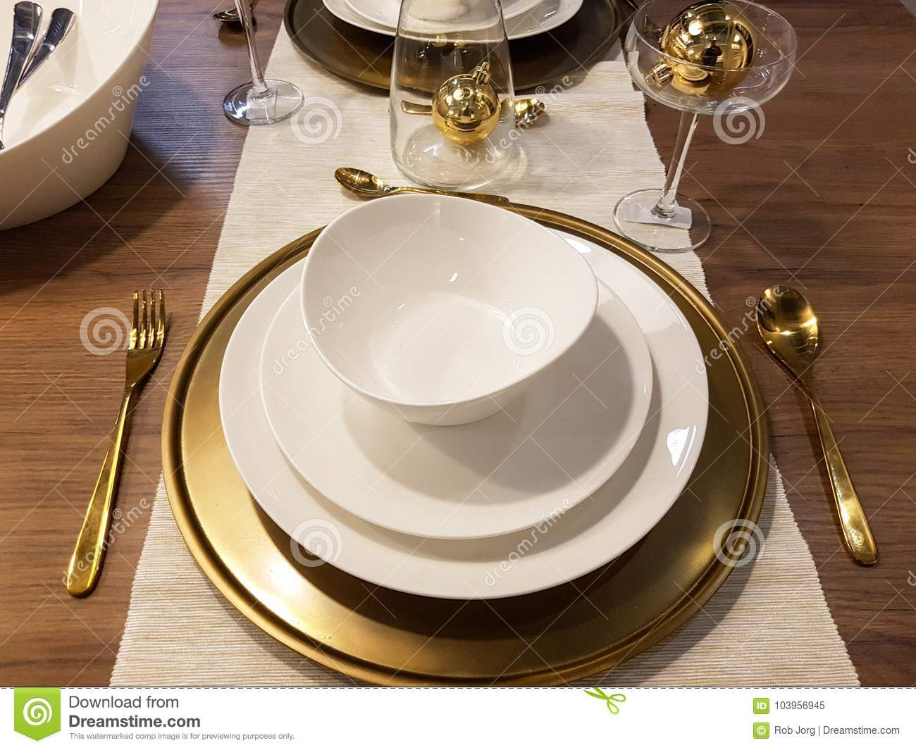 Festive season table settings