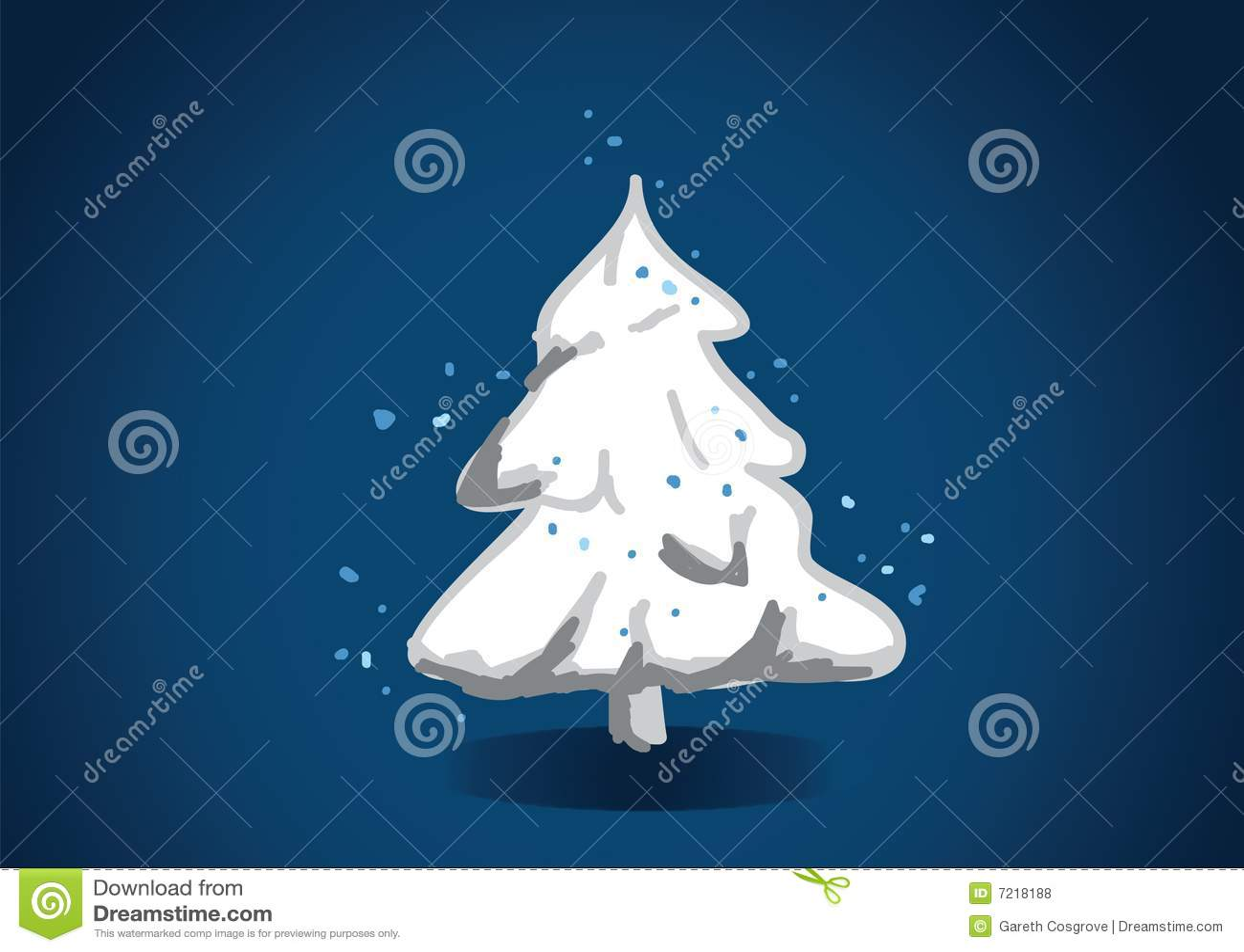 Festive snowy tree