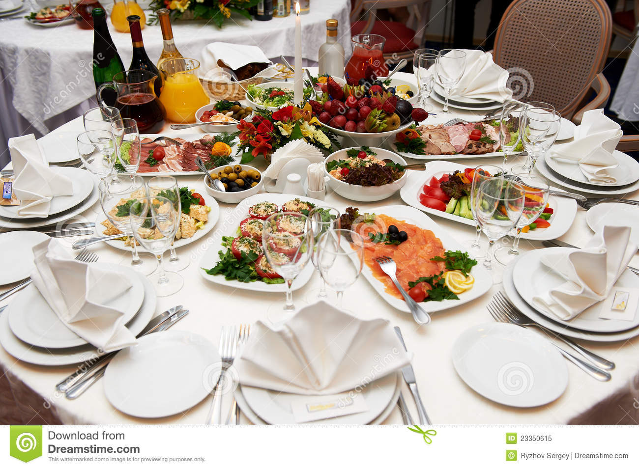 Festive Table Setting For Banquet Royalty Free Stock Photo Image 23350615