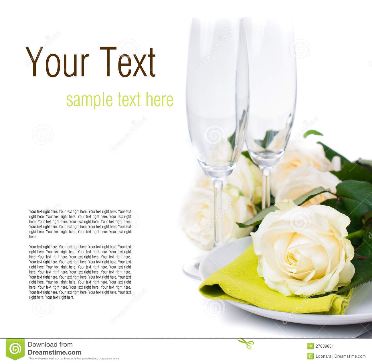Festive Table Setting Ready Template Stock Image - Image of
