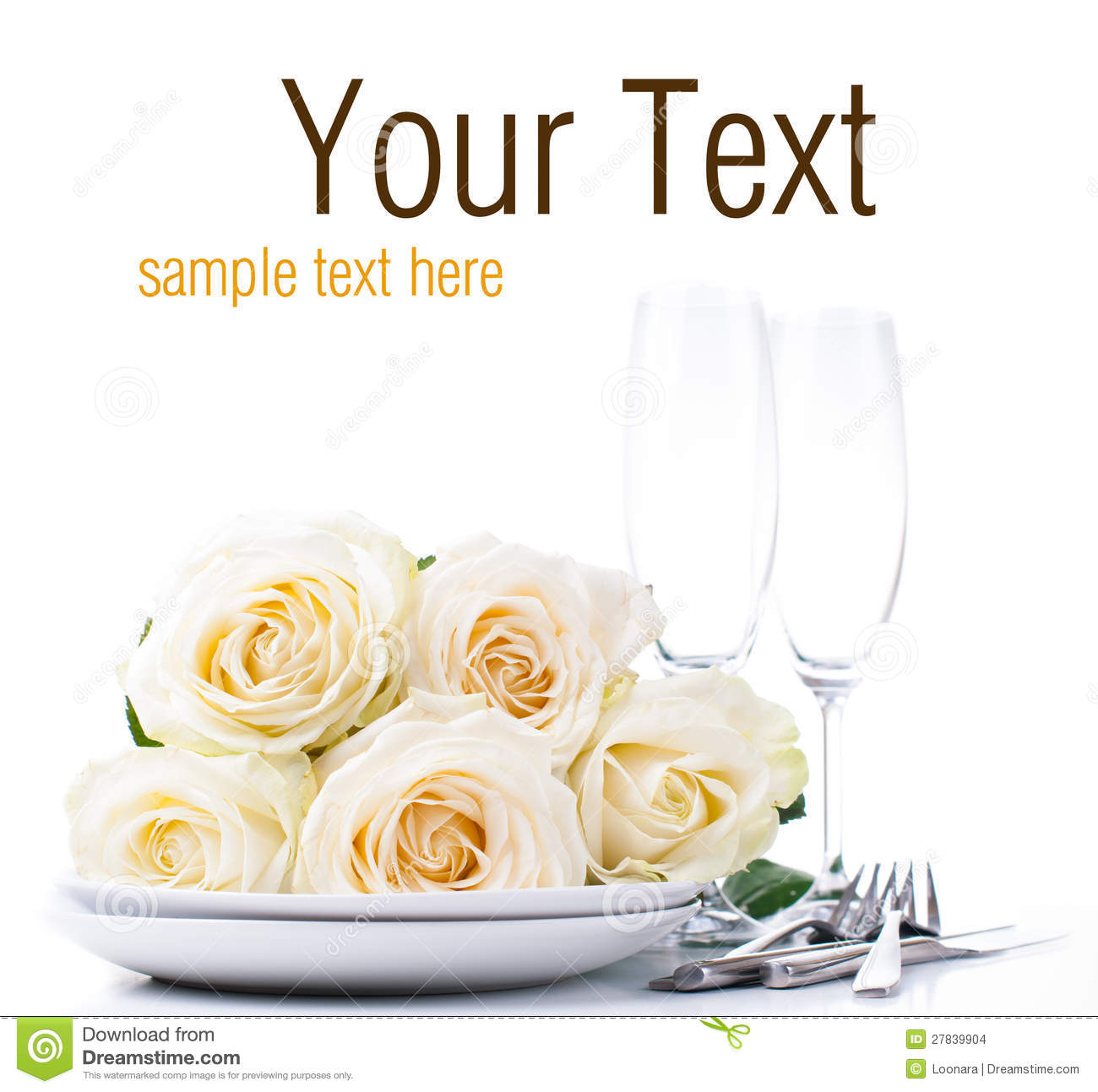 Festive Table Setting Ready Template Stock Photo Image Of
