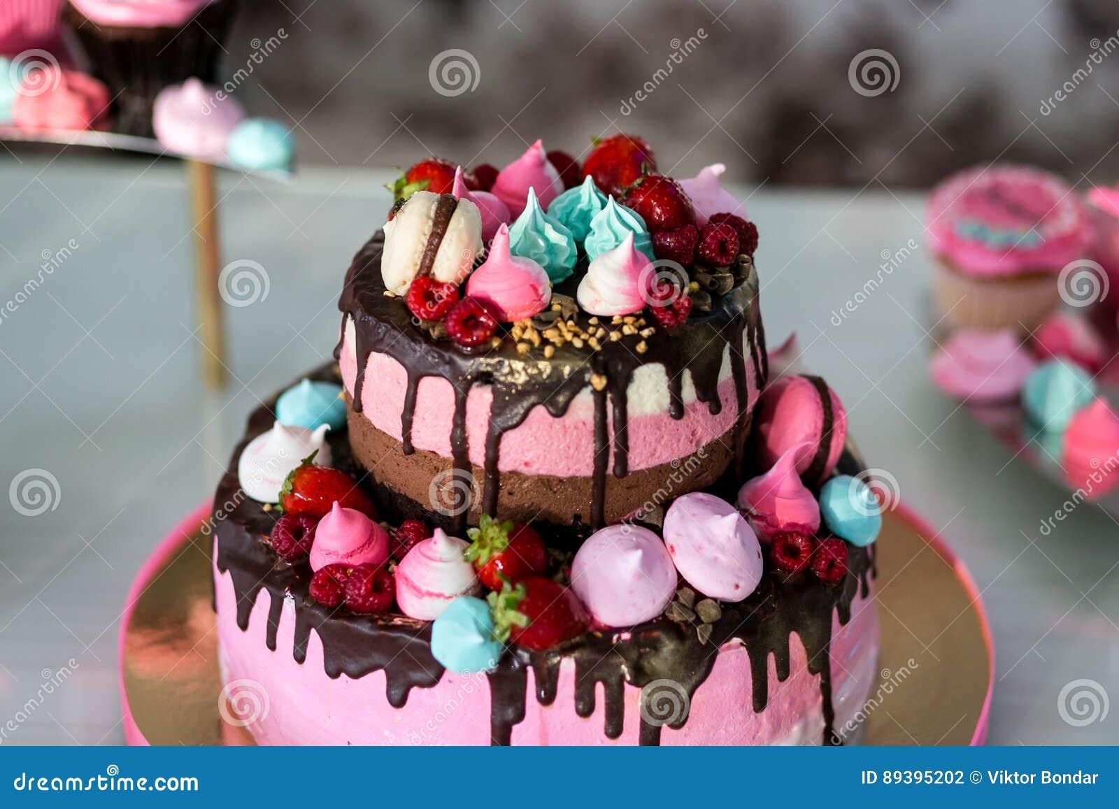 Festive Table With Sweetsic Pink Cake Kids Cake Birthday Cake