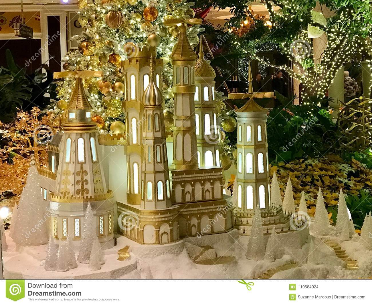 Christmas Decorations Las Vegas Nevada Editorial Stock Image