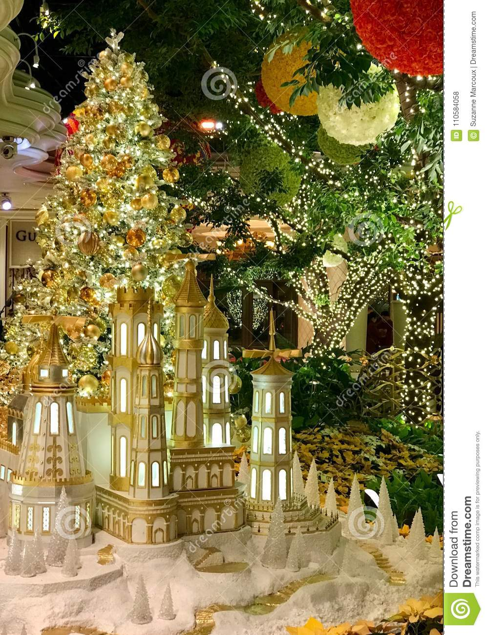Christmas Decorations Las Vegas Nevada Stock Photo Image Of Gift