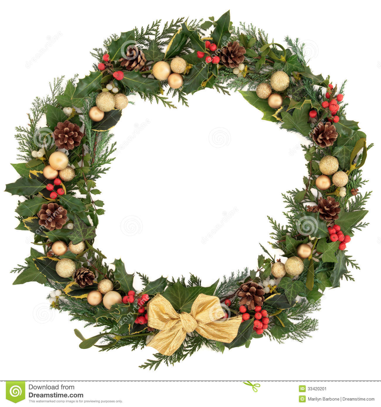 Christmas Holly Wreath Christmas floral wreath