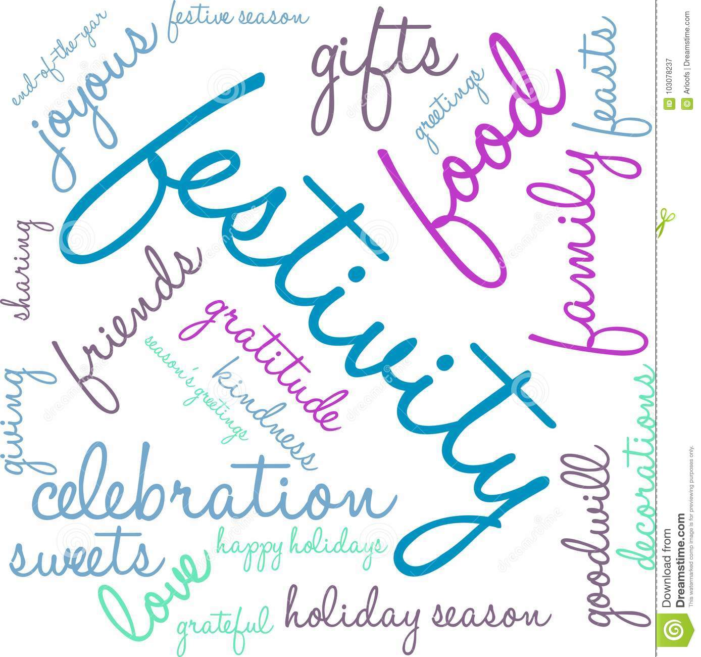 Festivity Word Cloud