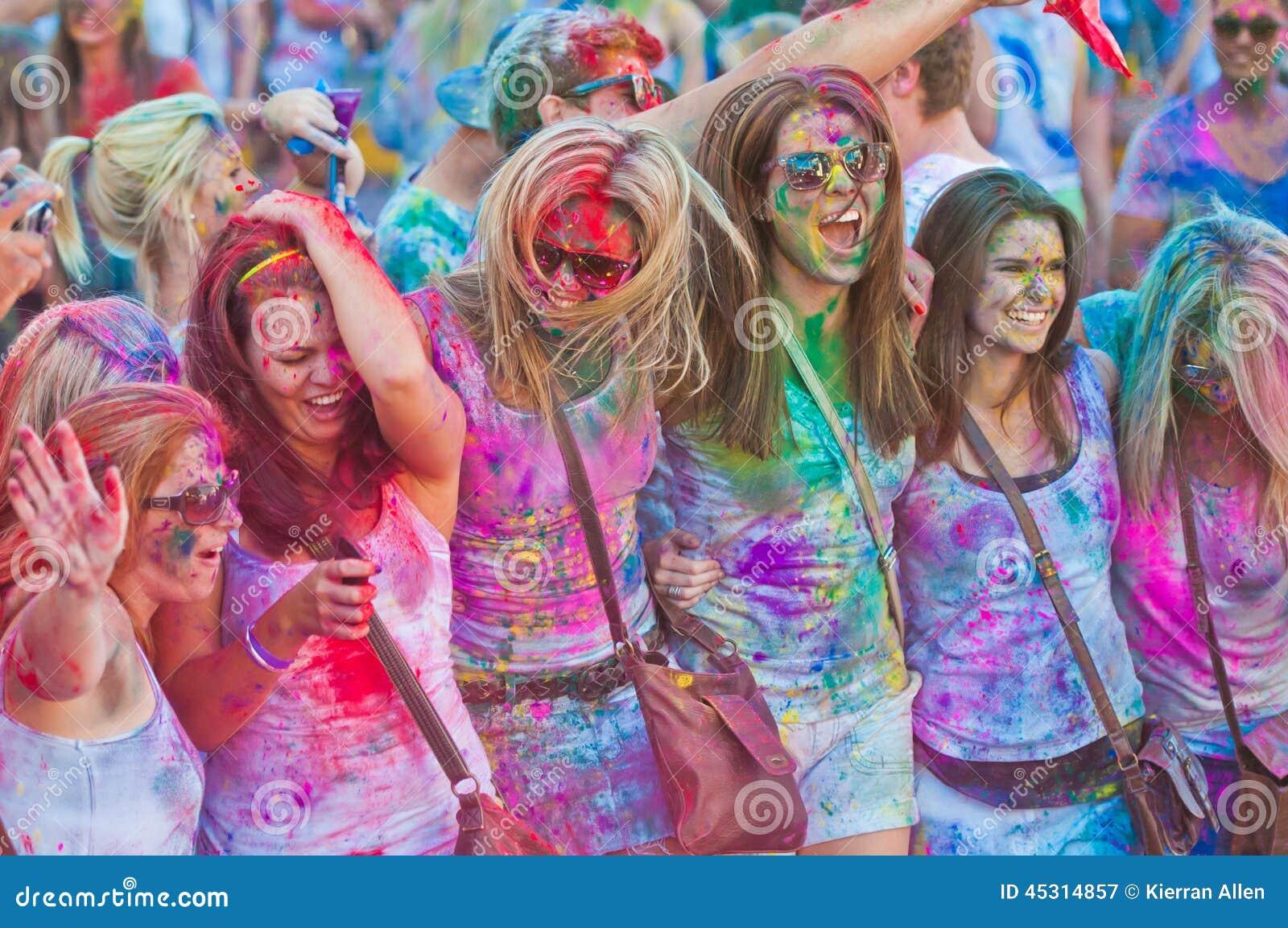 Festiwal Colour Holi jeden przyjęcie