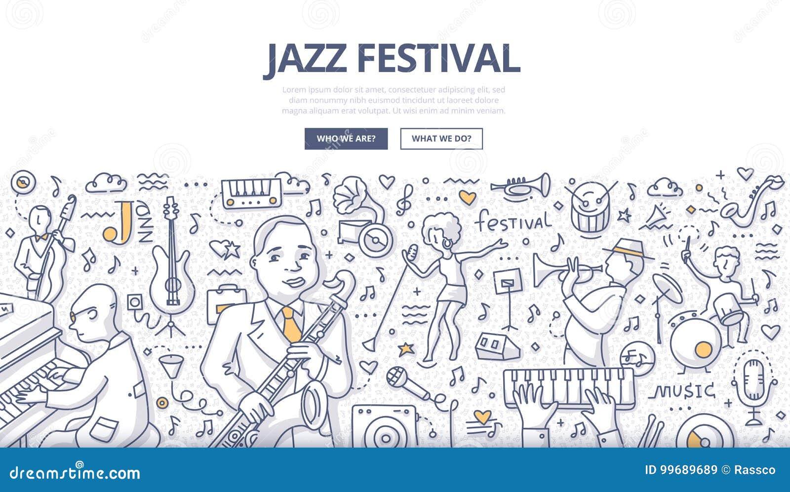 Festiwalu Jazzowego Doodle pojęcie