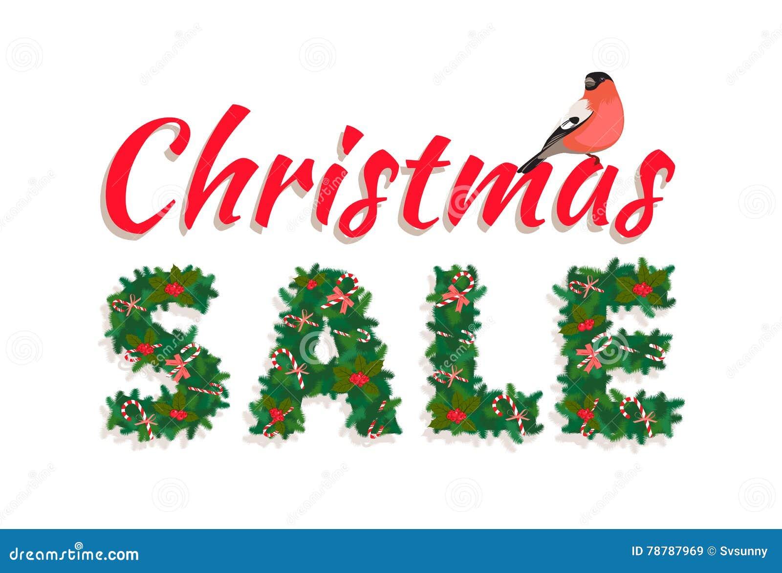 Weihnachtsbaum Girlande.Festliche Weihnachtsbaum Girlande Neuen Jahres Verkaufsbeschriftung