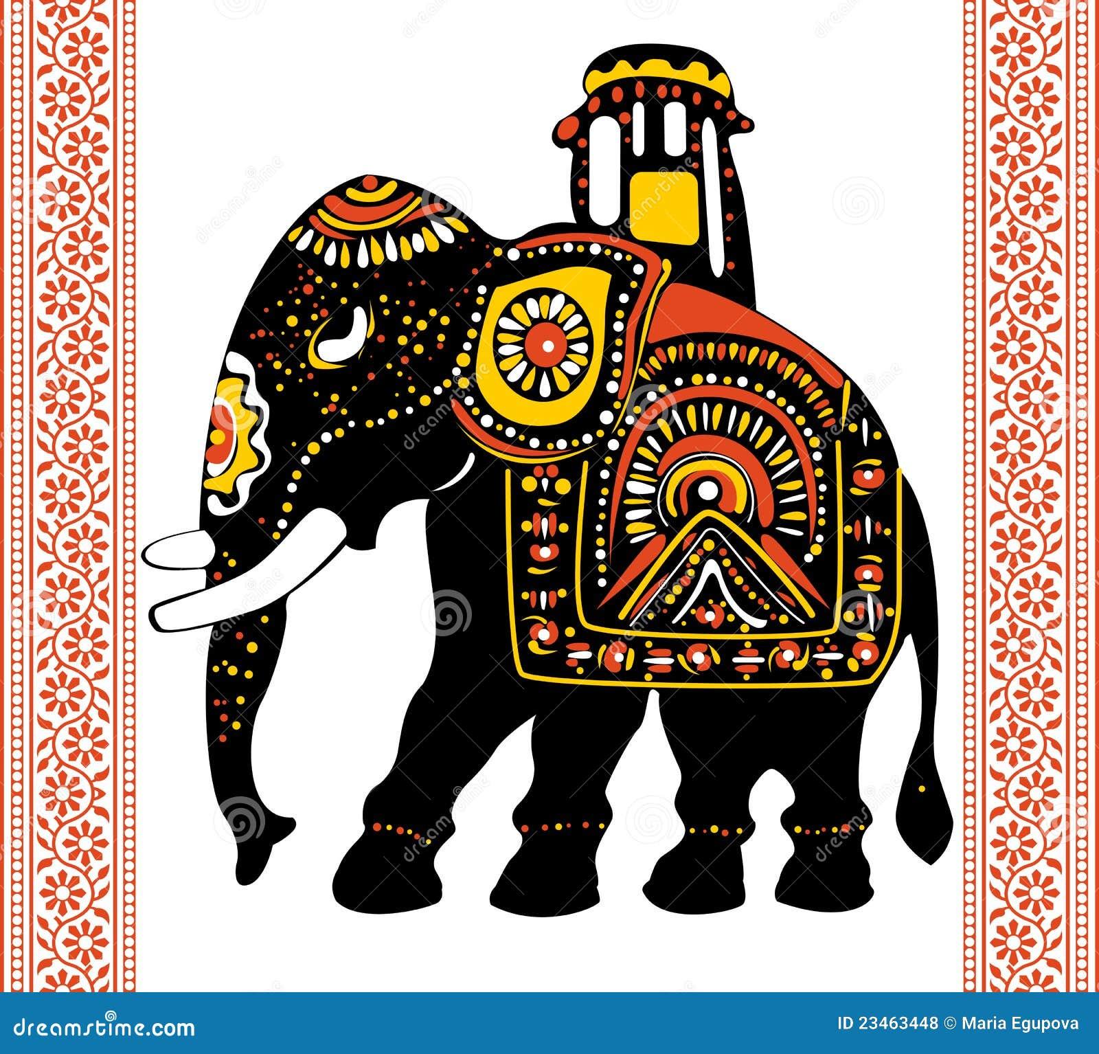 festlicher indischer elefant vektor abbildung