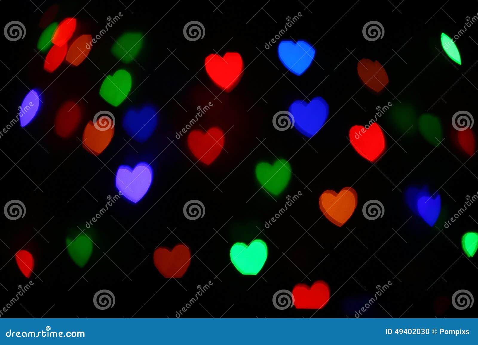 Download Festliches Bokeh Herz Des Feiertags Entziehen Sie Hintergrund Stockfoto - Bild von feiertag, grün: 49402030