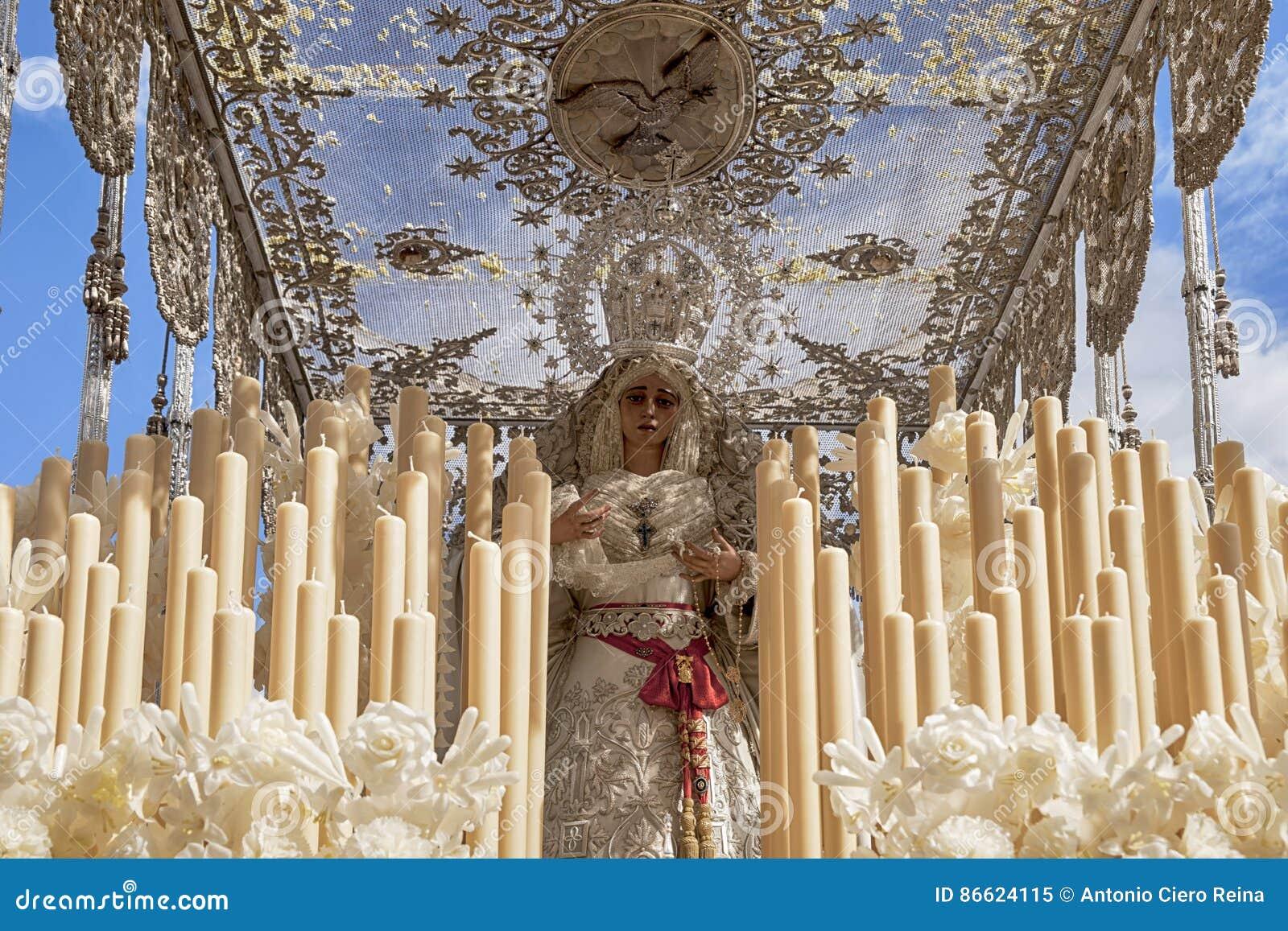 Festmåltid av den heliga veckan eller påsken i staden av Seville