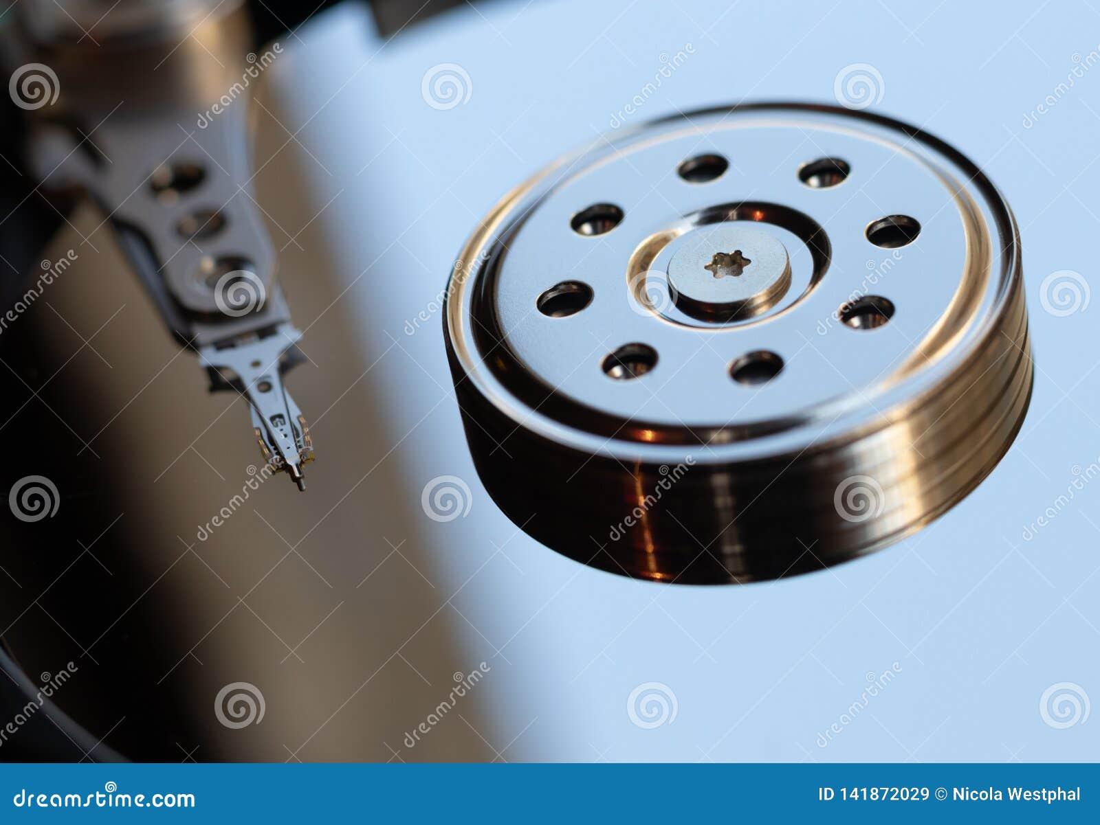 Festplattenlaufwerk - Servierplatte und Kopf