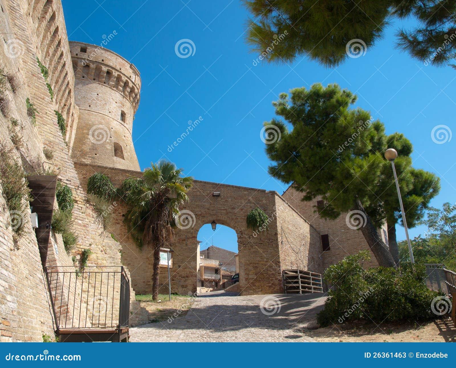 Festung Acquaviva Picena- Italien