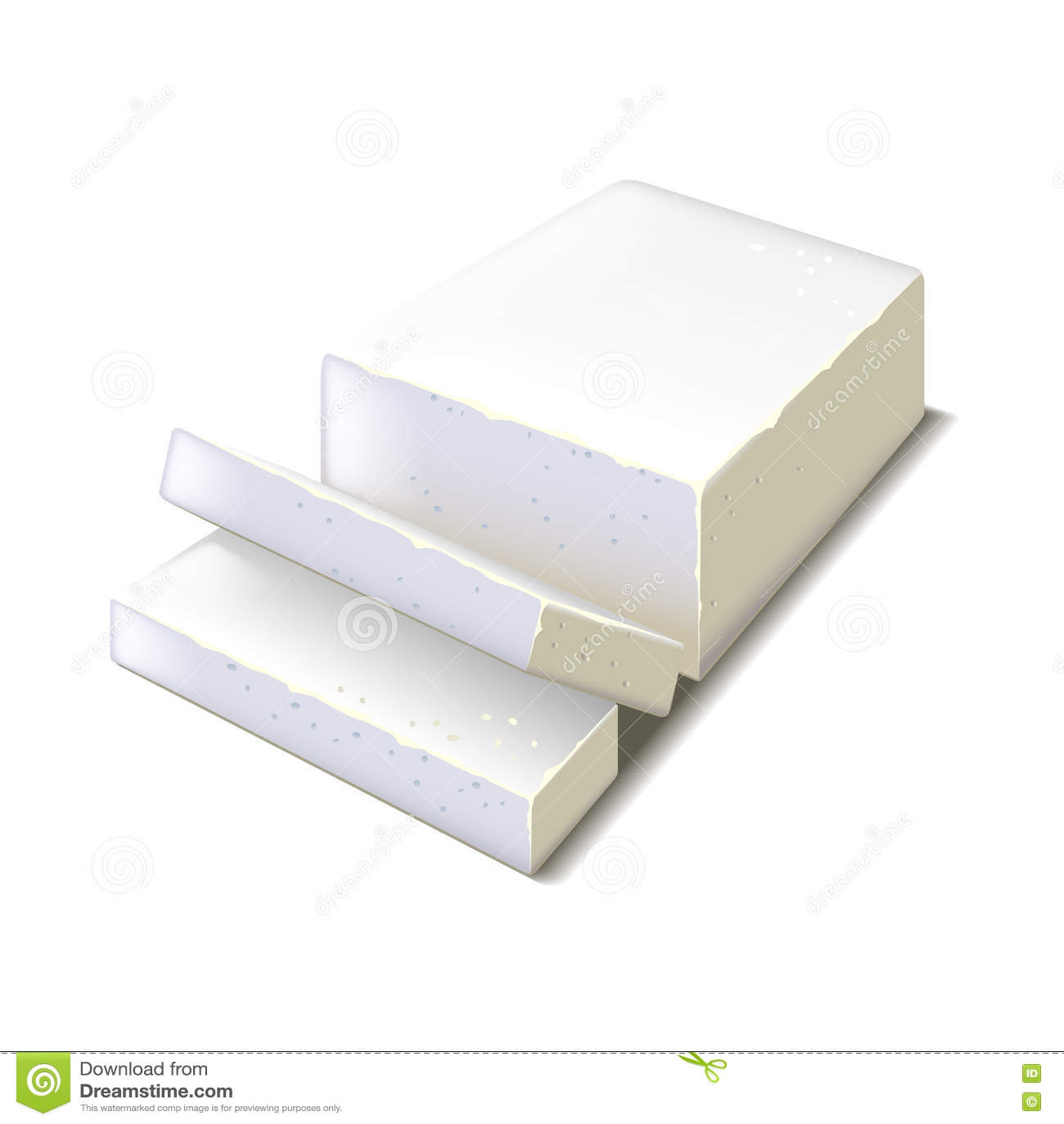 Feta ser na białym wektorze