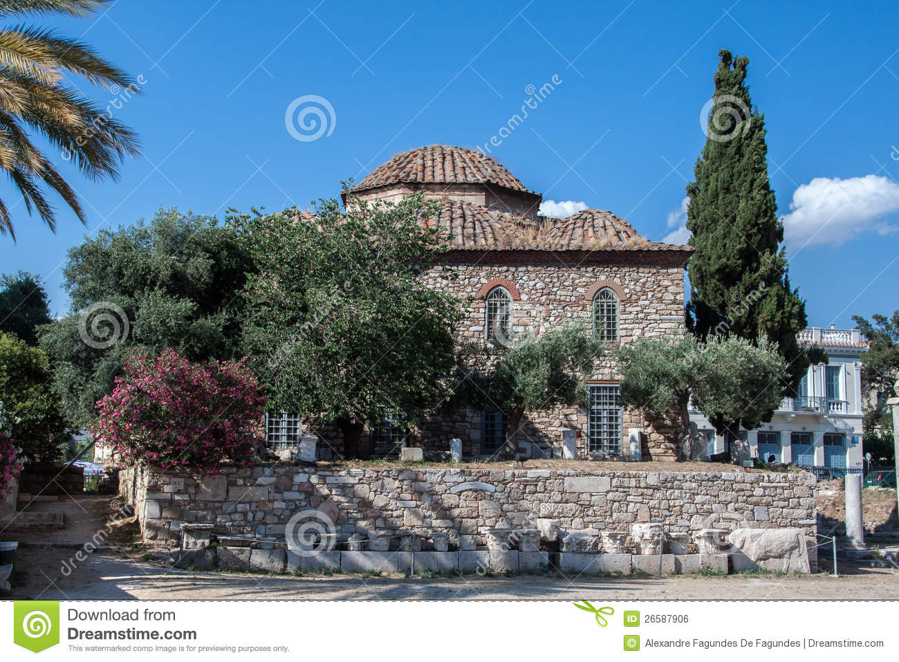 Fethiye Mosque Athens Greece Royalty Free Stock Image ...