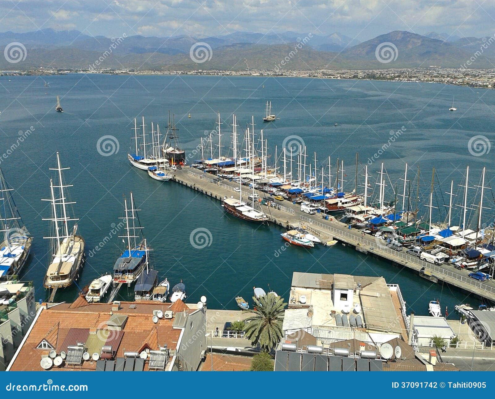 Download Fethiye Schronienie, Turcja Zdjęcie Stock - Obraz złożonej z błękitny, turcja: 37091742