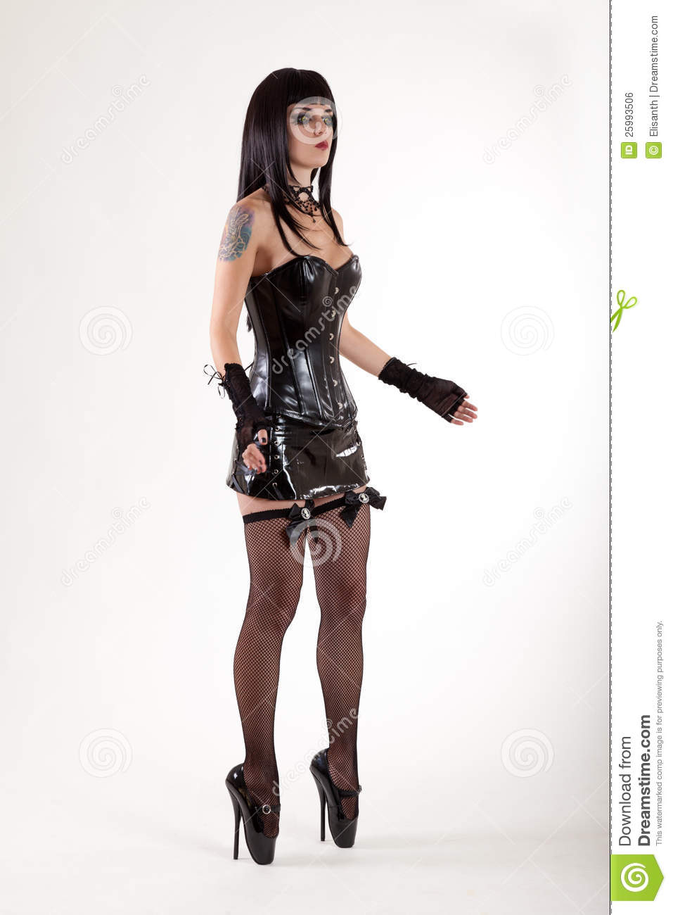 Fetish Woman In Leather Corset Royalty Free Stock Image ...