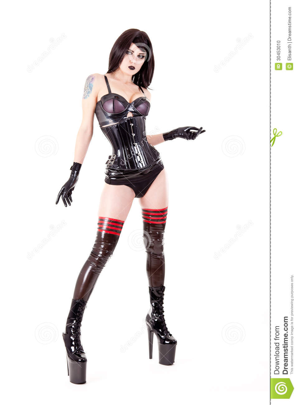 Female leather fetish clothes