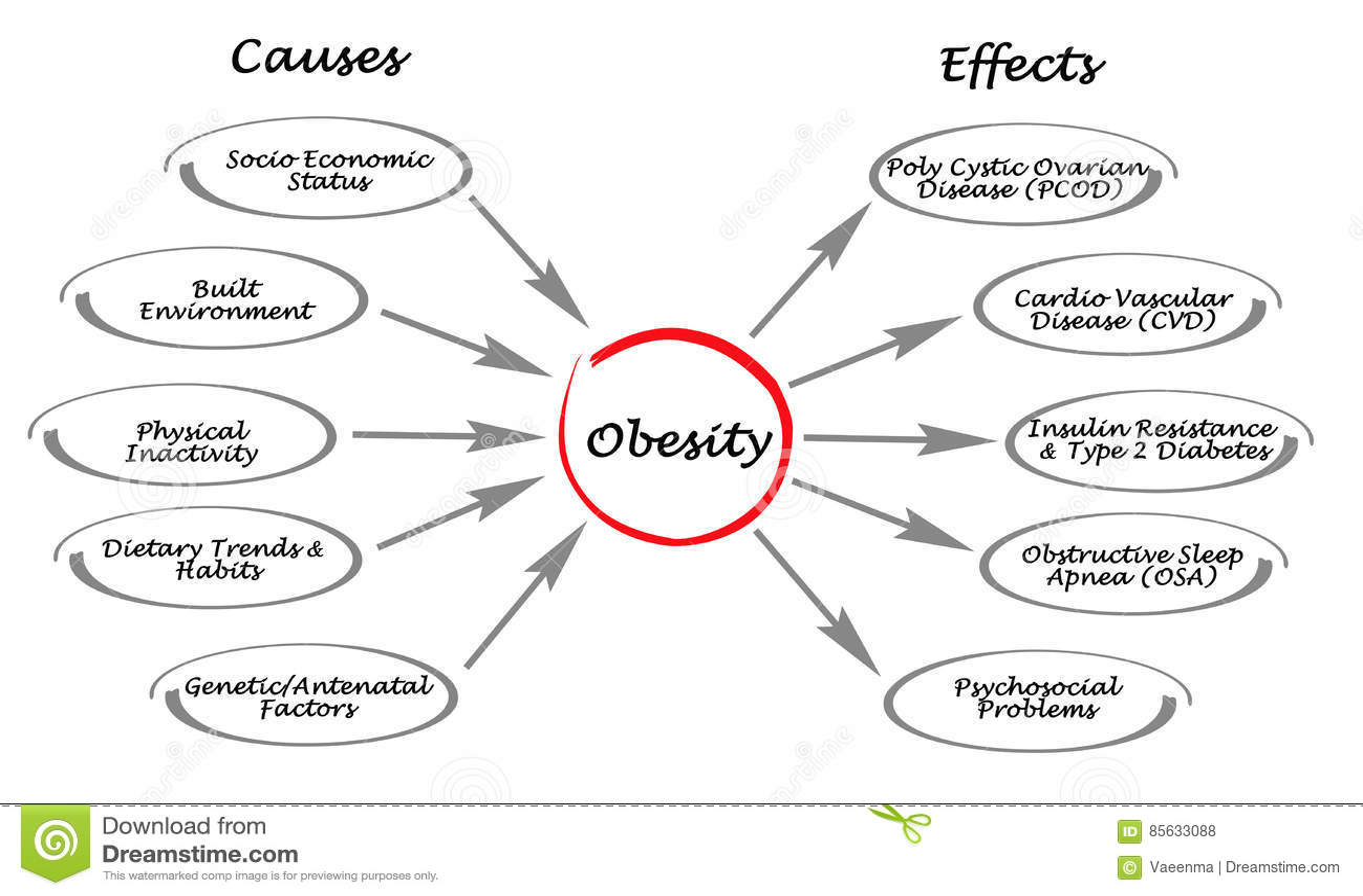 Fetma: orsaker och effekter
