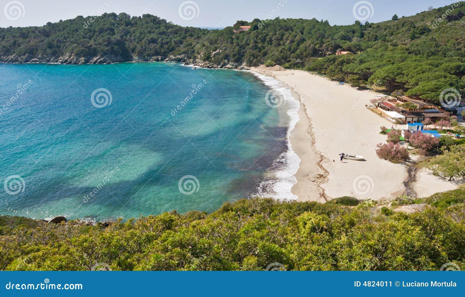 Fetovaia Strand, Marina di Campo, Insel von Elba, Ita