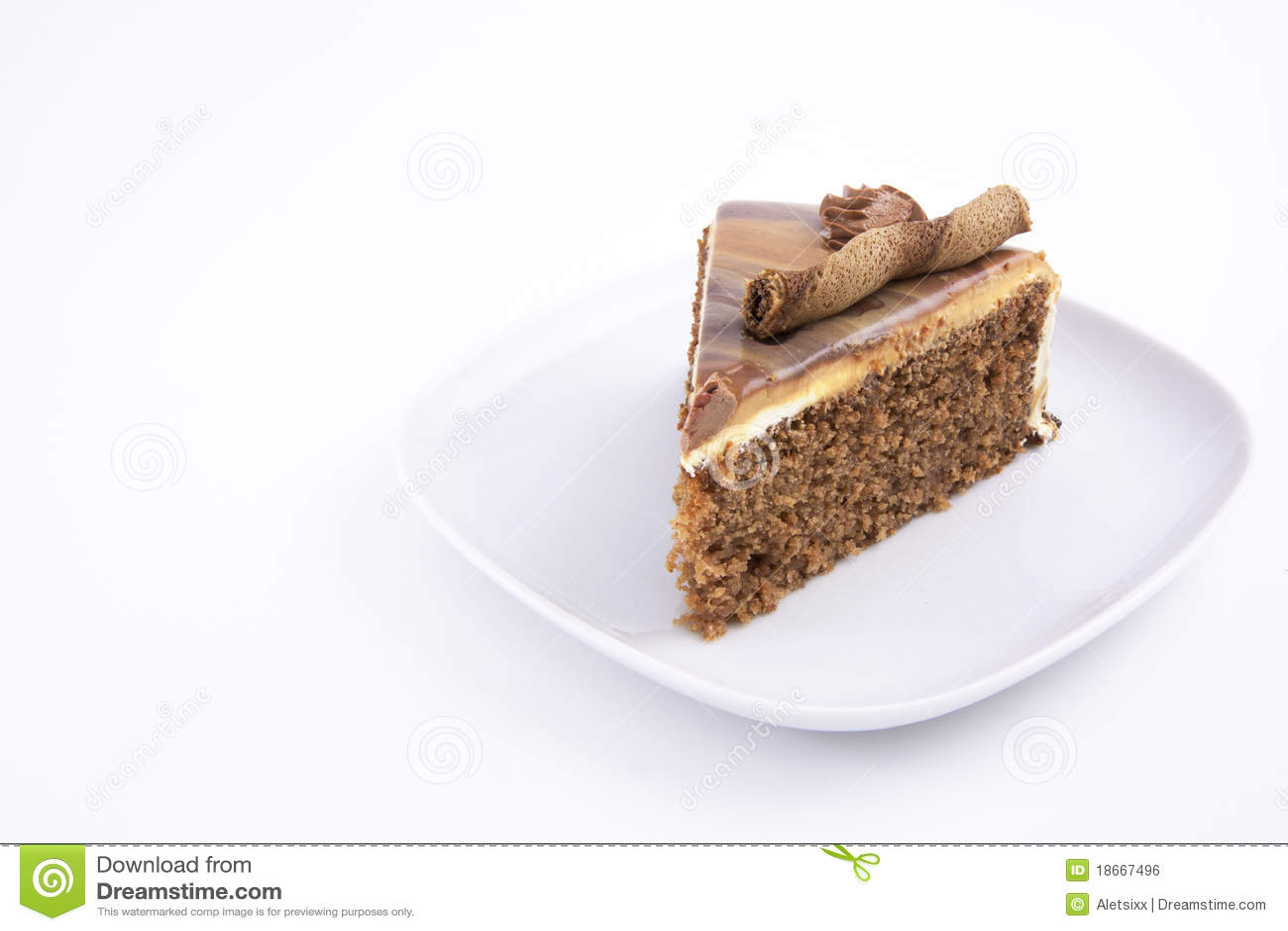 Fetta della torta del Mocha