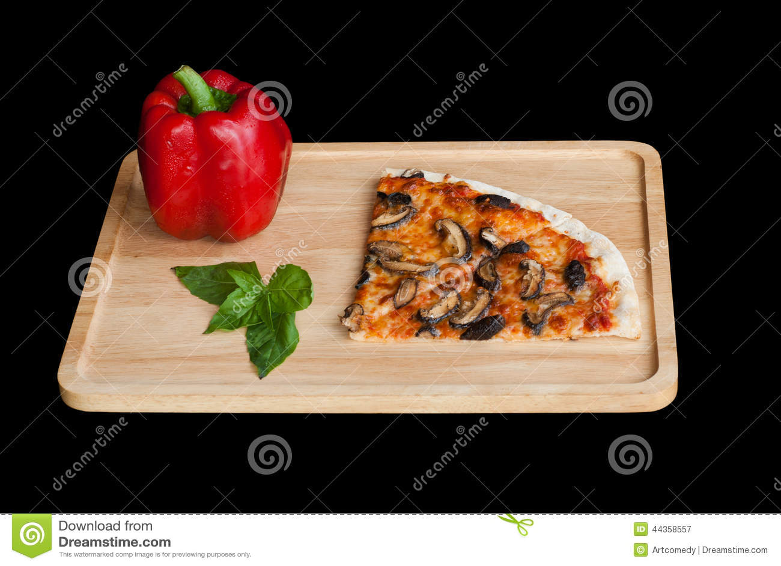 Fetta di pizza con il fungo