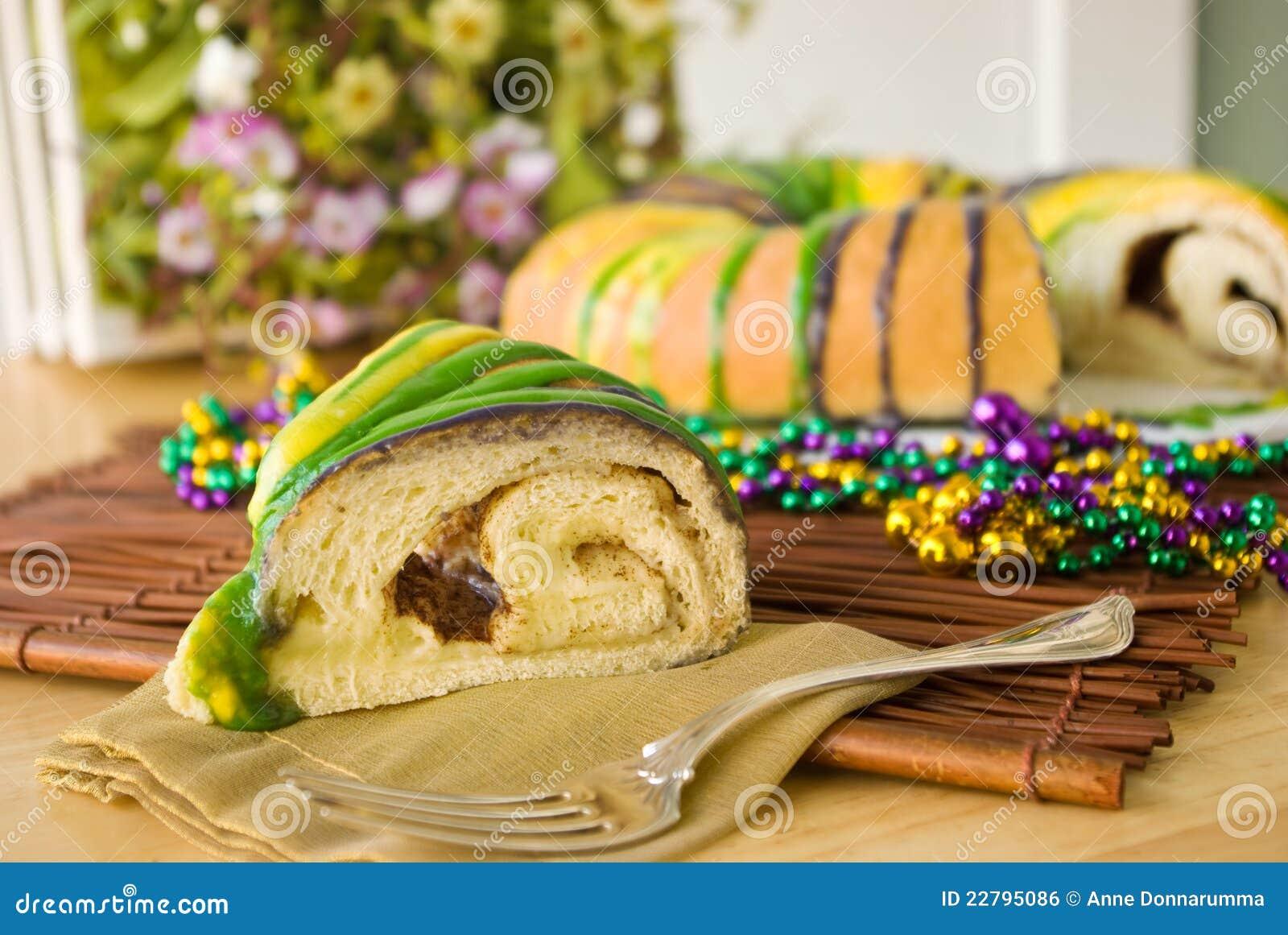 Fetta di re Cake di Mardi Gras