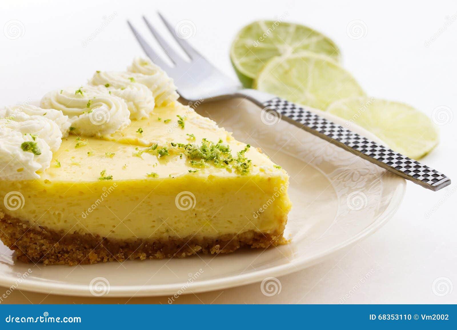 Fetta di torta della calce chiave