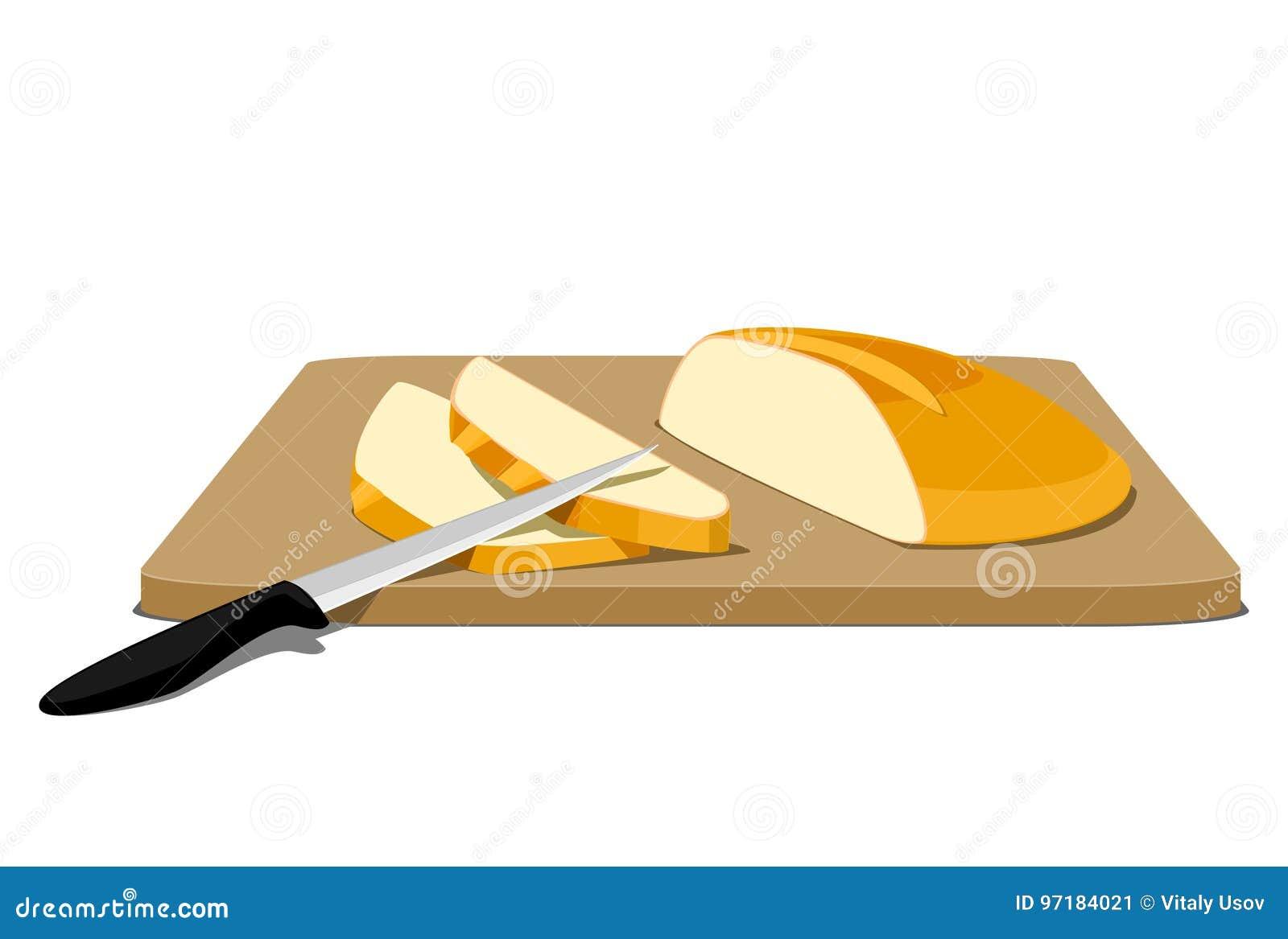 Fette di pane sul tagliere