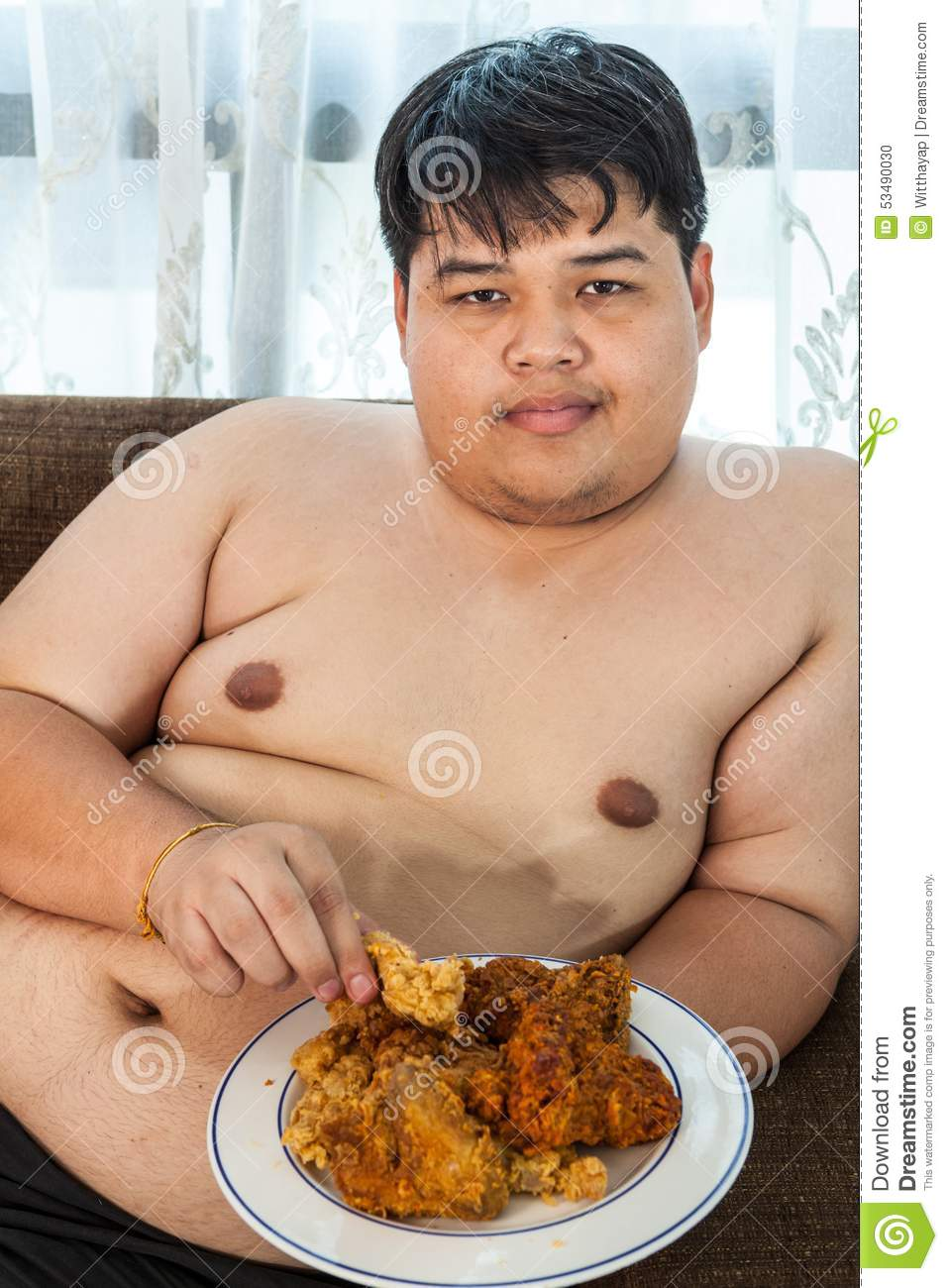 Asian men eating and swallowing cum from