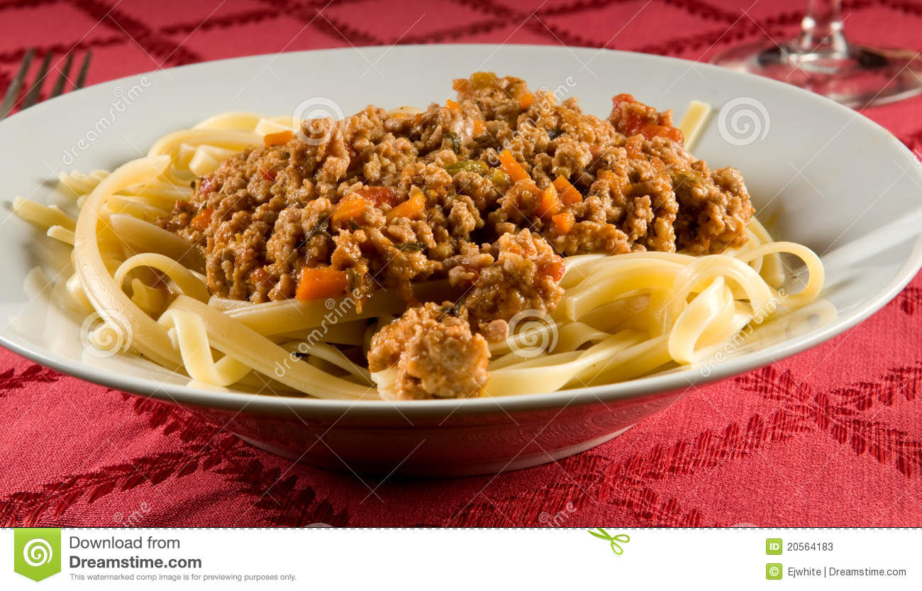 Fettuccine Bolognese Stock Photos - Image: 20564183