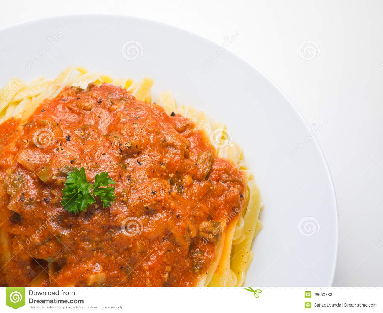Fettuccine Bolognese Royalty Free Stock Photos - Image: 28560788